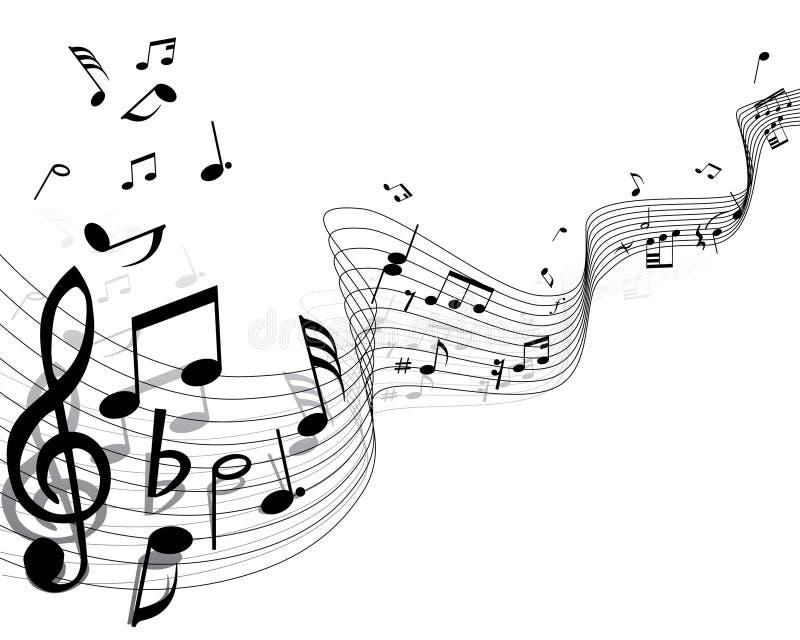 Notas musicales ilustración del vector