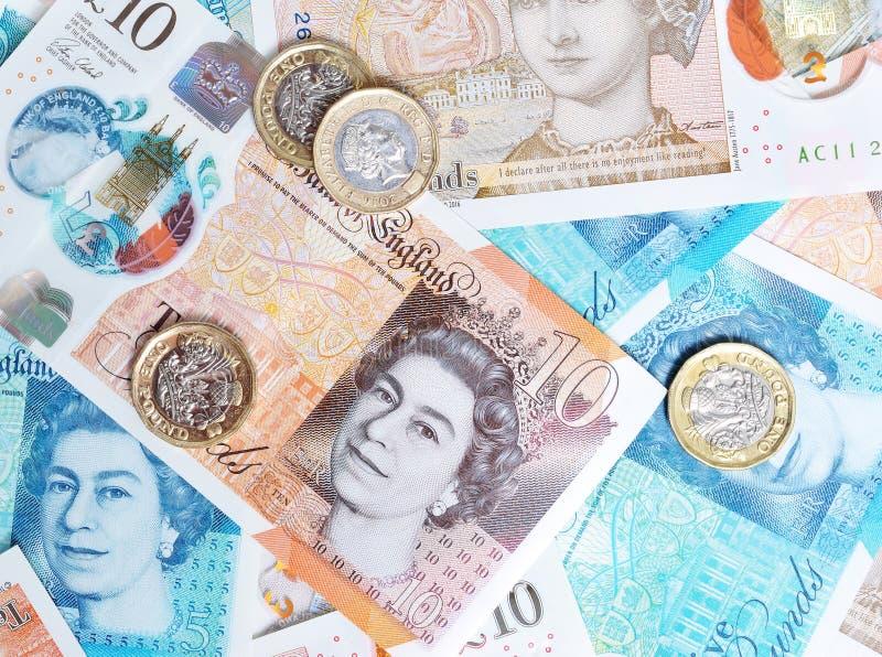 Notas novas da libra foto de stock royalty free