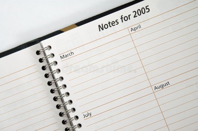 Notas para 2005 fotografía de archivo