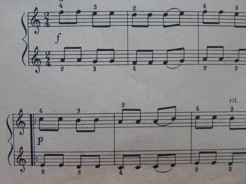 Notas para o solfeggio das lições de música imagem de stock royalty free