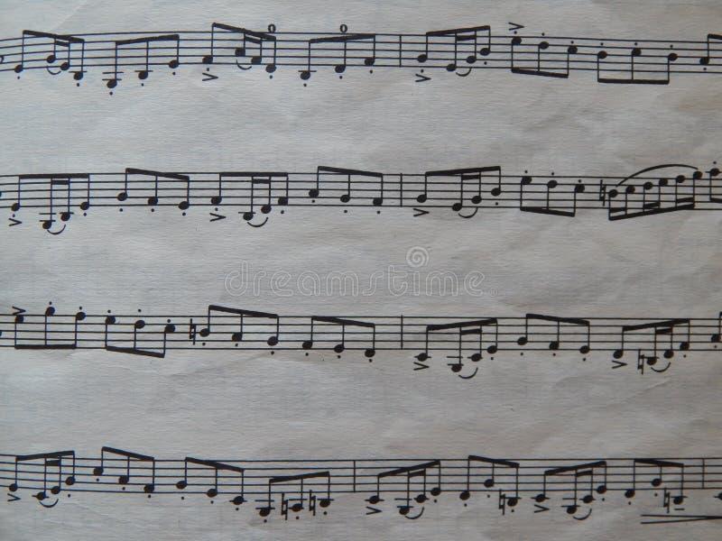 Notas para o solfeggio das lições de música foto de stock