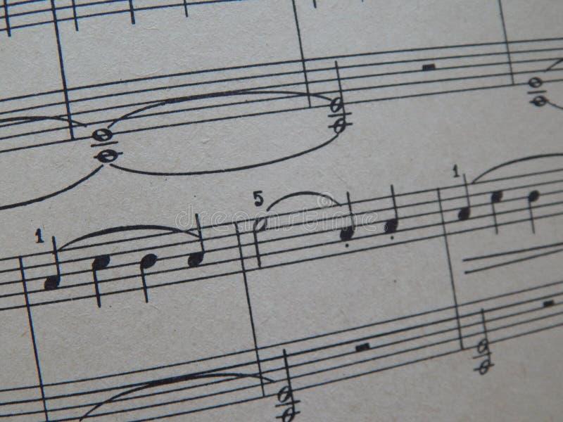 Notas para o solfeggio das lições de música fotos de stock