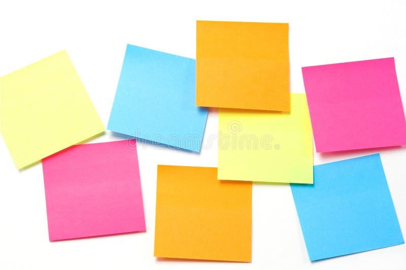 Notas pegajosas coloridas - formato horizontal fotografia de stock royalty free