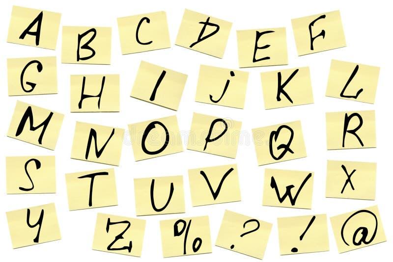 Notas pegajosas con alfabeto libre illustration