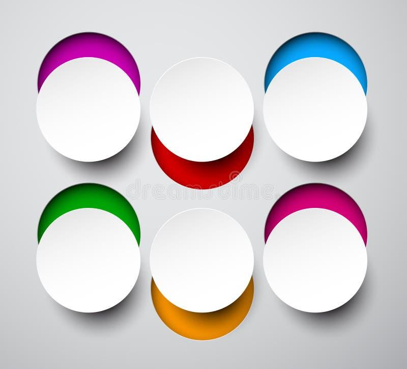 Notas redondas blancas de papel stock de ilustración