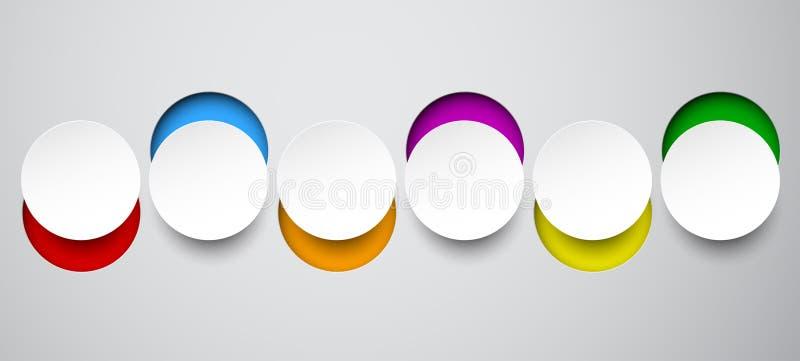 Notas redondas blancas de papel ilustración del vector
