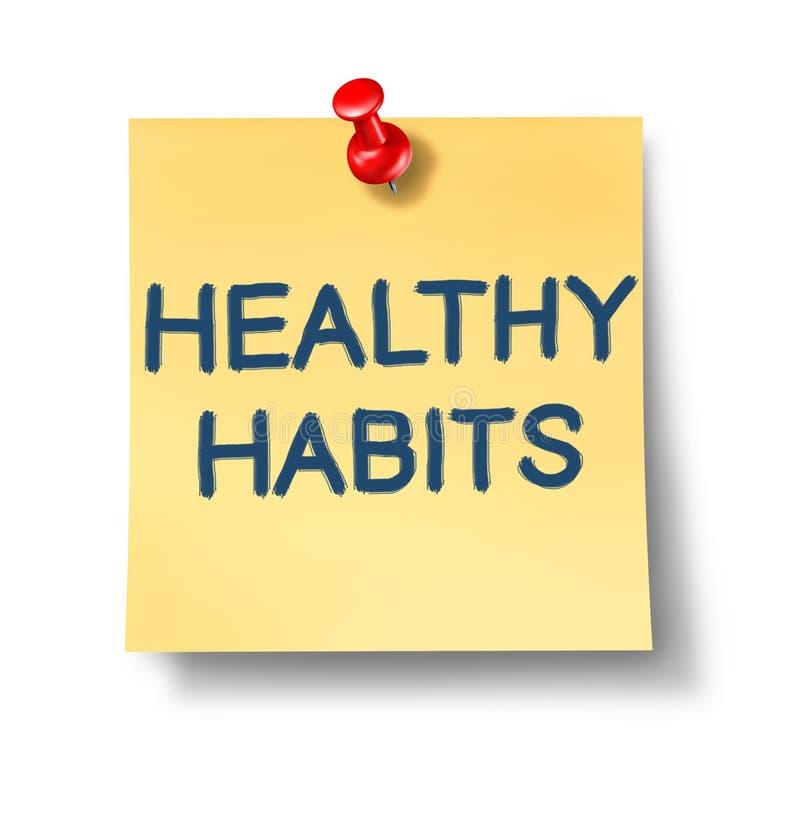 Notas saudáveis do escritório dos hábitos ilustração royalty free