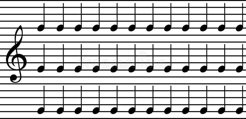 Notas simples de la música ilustración del vector