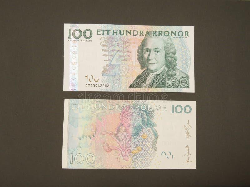 Notas suecos da moeda imagem de stock