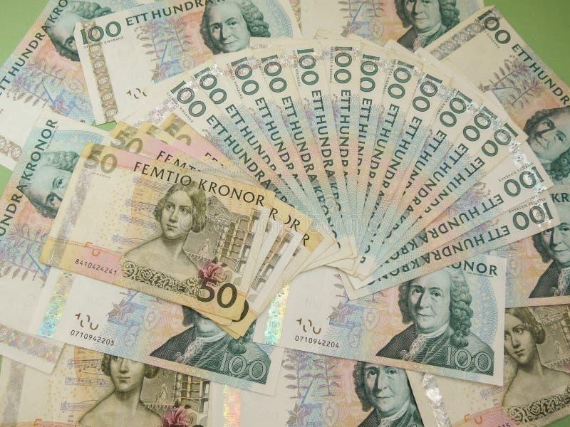 Notas suecos da moeda imagem de stock royalty free