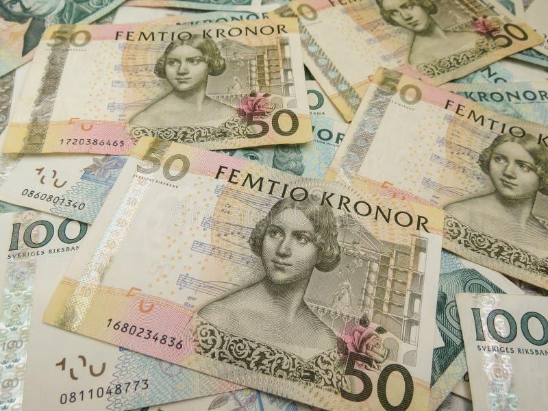 Notas suecos da moeda imagens de stock royalty free