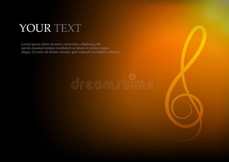 Notas y espacio de la música para el fondo del texto libre illustration