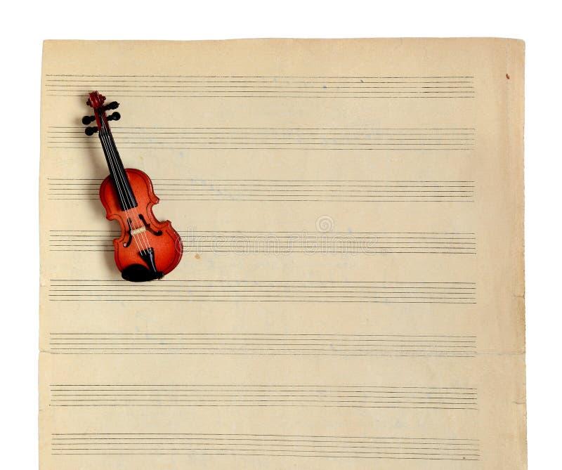 Notas y violín de la música. imágenes de archivo libres de regalías