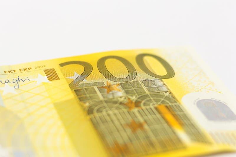 200 notatek Euro pieniądze obrazy stock