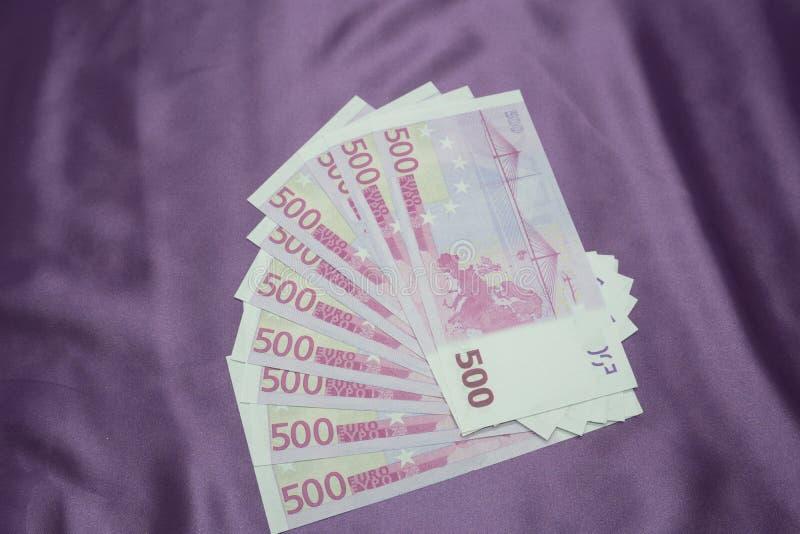 500 notatek tła Euro tekstura obrazy royalty free