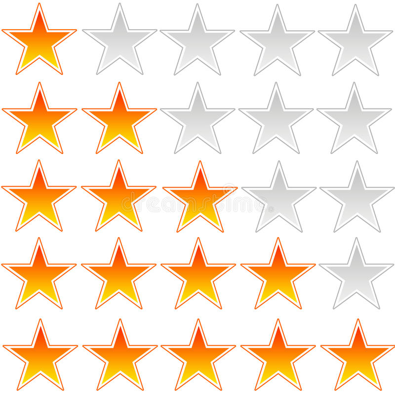 Notation d'étoile illustration de vecteur