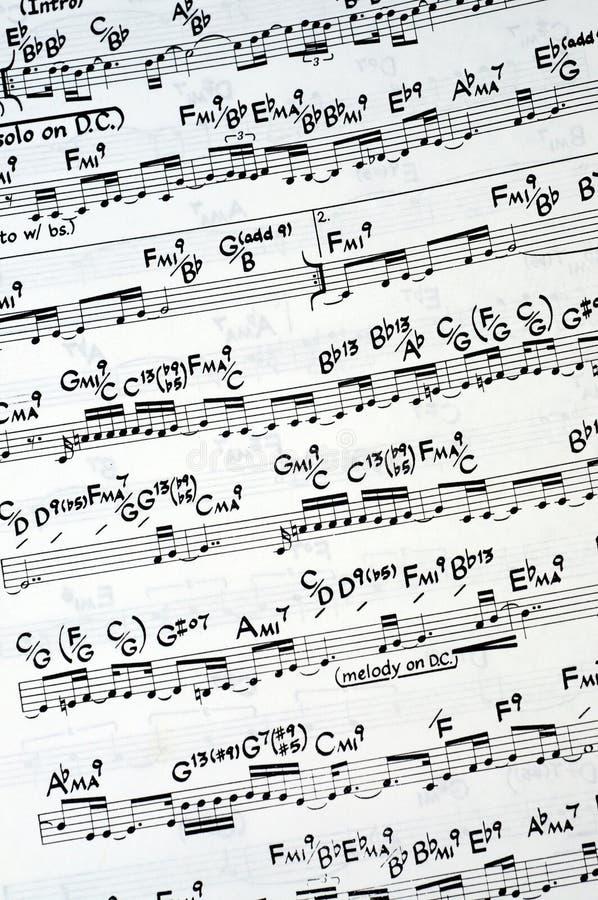 Notation de musique photographie stock