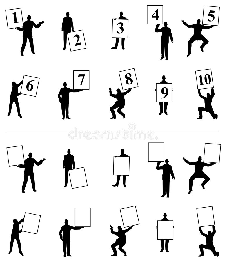 Notations de numéro de fixation de gens illustration libre de droits