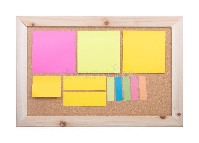 Notatka na corkboard obrazy stock