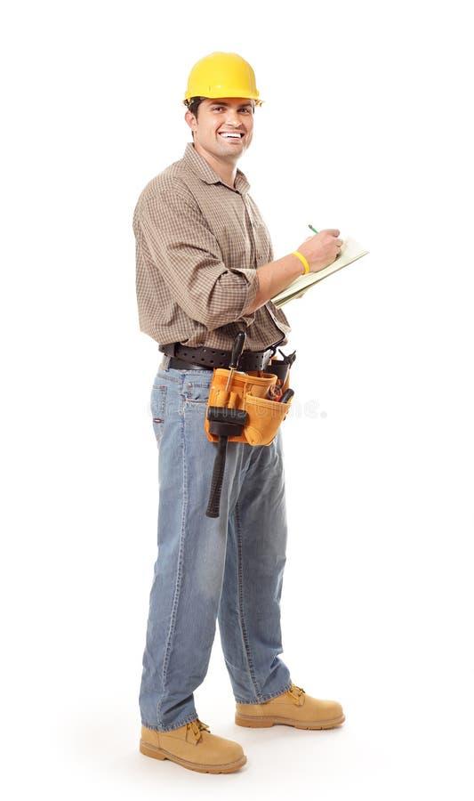notatki biorą pracownika zdjęcie stock