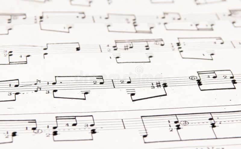 Notatki i musical klepki zdjęcia royalty free