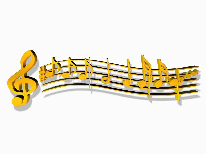 Download Notatki muzykalne ilustracji. Ilustracja złożonej z ostrzy - 125637