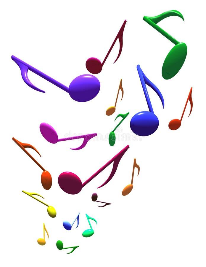 notatki muzykalne ilustracji