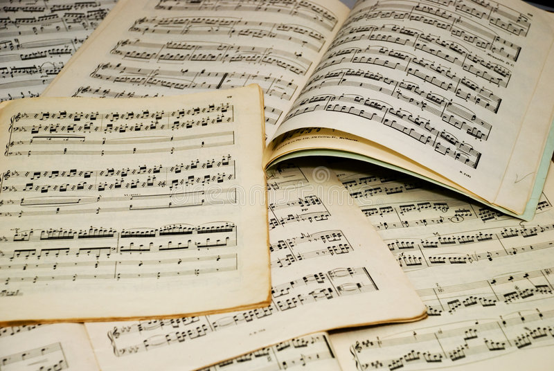 notatki muzykalne obraz stock