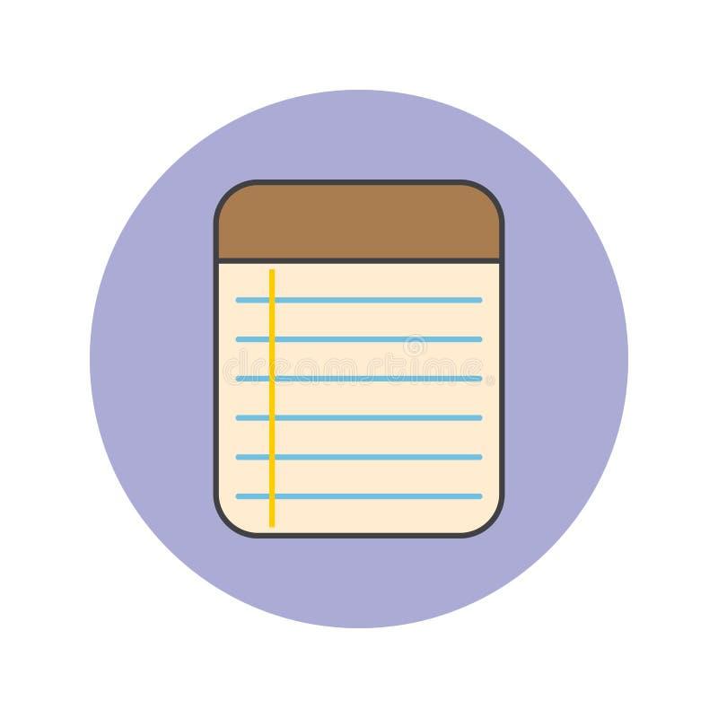 Notatki Notepad cienka kreskowa ikona, wypełniający konturu loga wektorowy illustra ilustracja wektor