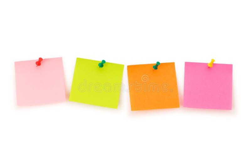 notatki odosobniony przypomnienie zdjęcia stock