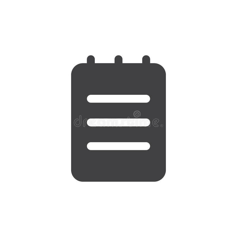 Notatki prosta ikona royalty ilustracja