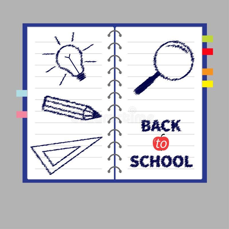 Download Notatników ślimakowaty Puste Miejsce Wykładający Bookmarks I Papier Ilustracja Wektor - Ilustracja złożonej z bookmark, szkoła: 57651886