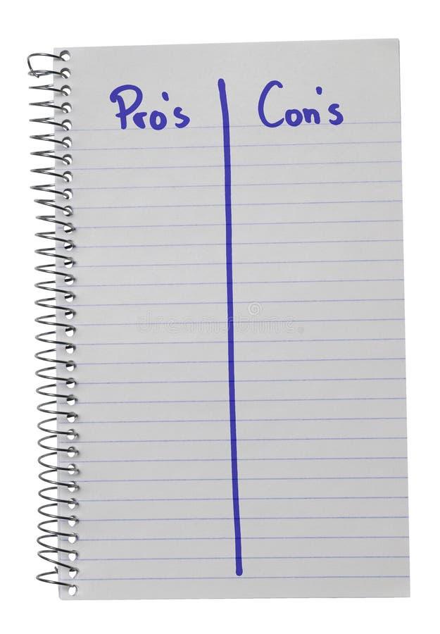 Notatników argument za vs kantują w błękicie obraz stock