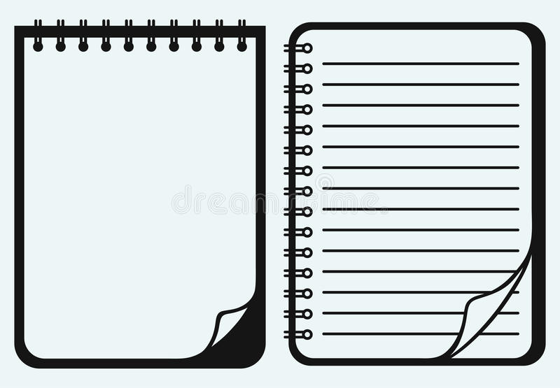 Notatnik ilustracja wektor