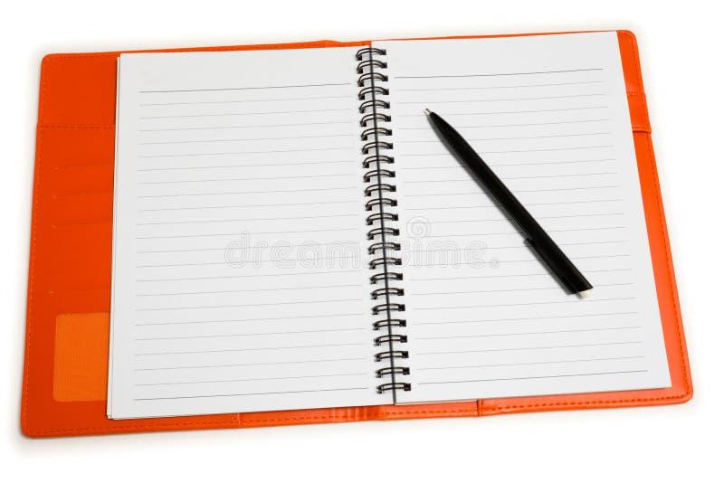 Notatnik i pióro fotografia stock