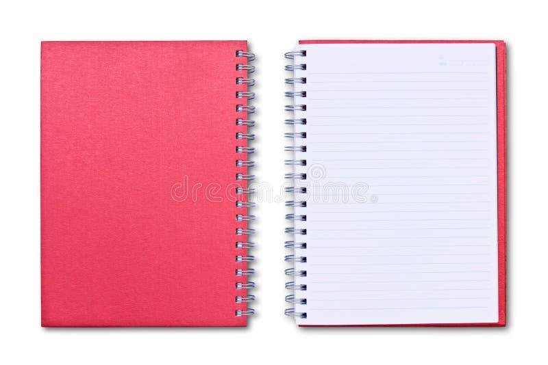 notatnik odosobniona czerwień zdjęcia stock