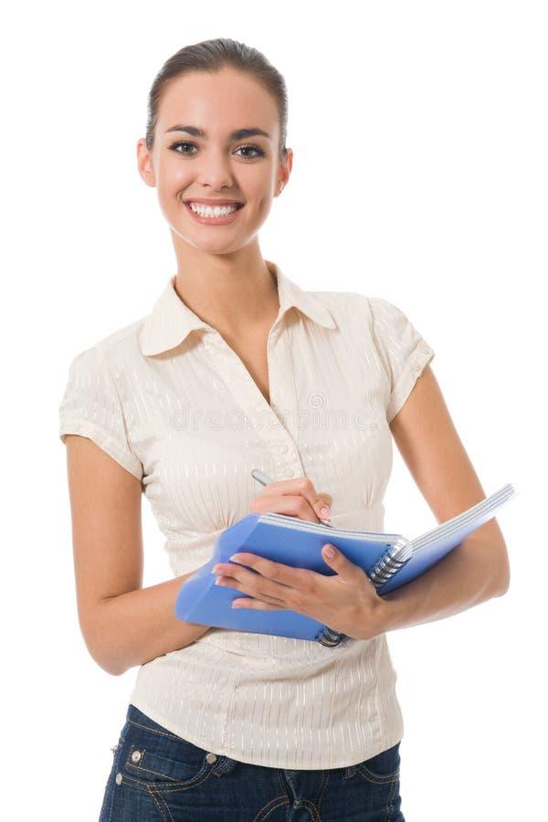 notatnik odosobniona kobieta obrazy stock