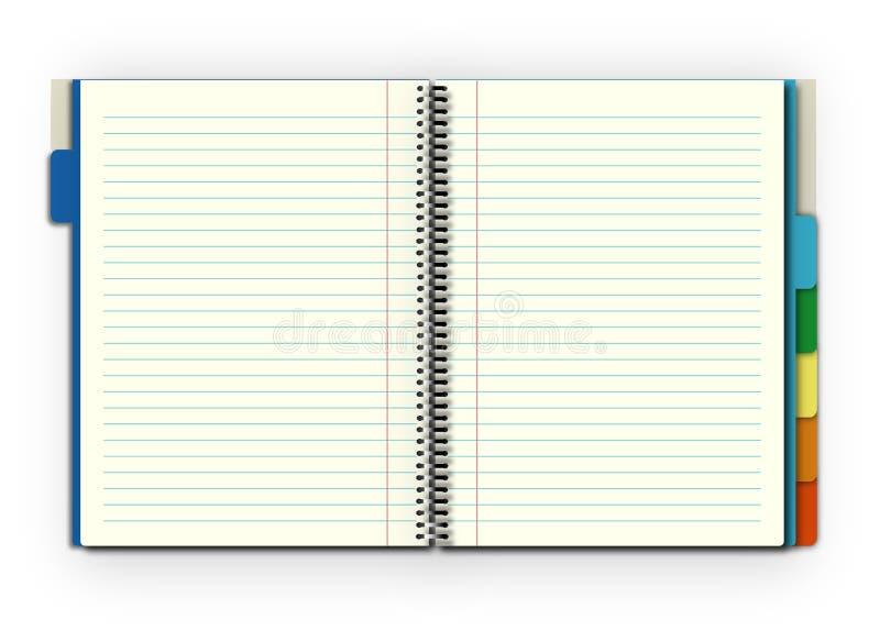 notatnik otwarty ilustracji
