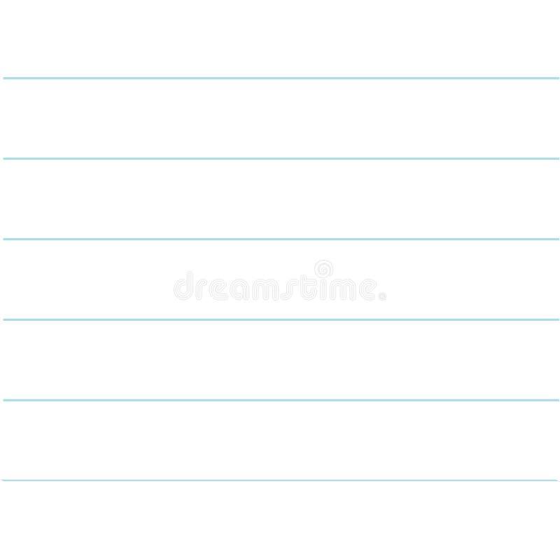 Notatnik papierowej tekstury prążkowany szablon Pusty prześcieradło copybook tło Płaski projekt royalty ilustracja
