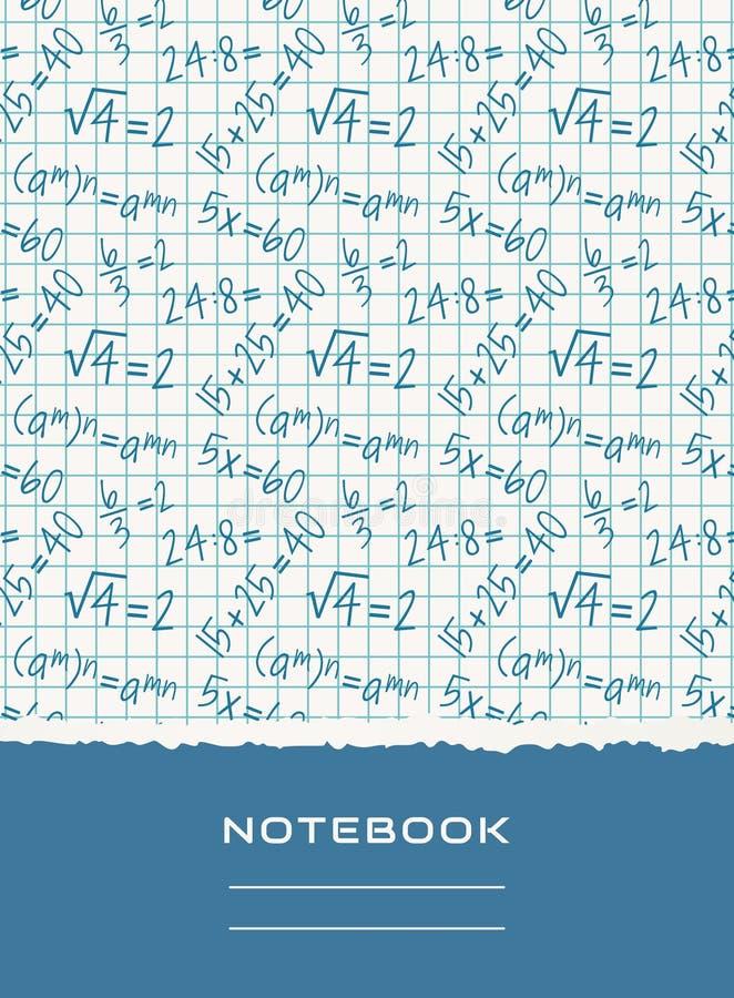 Notatnik pokrywy projekt Wektorowy matematycznie tło ilustracji