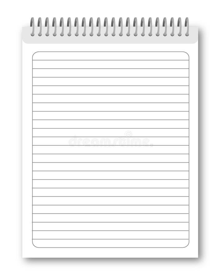 notatnik pusta spirala ilustracji