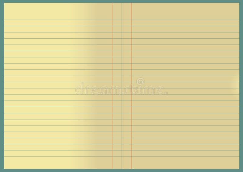 notatnik stary ilustracji