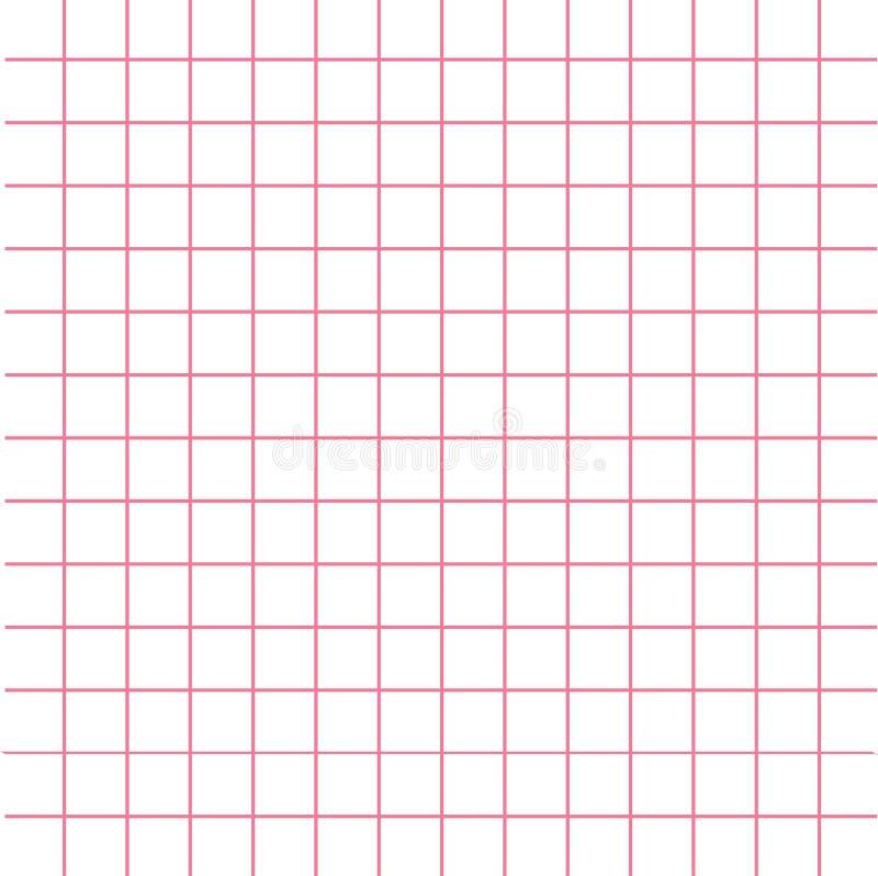 Notatnik tekstury menchii komórki papierowy szablon Ciosowy pusty prześcieradło copybook tło Płaski projekt royalty ilustracja