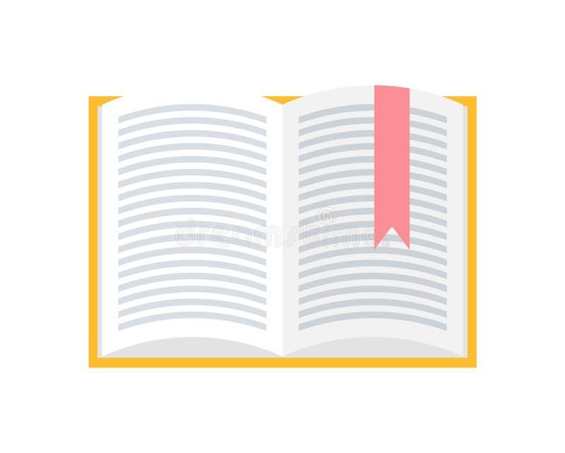Notatnik z Bookmark Robić Czerwona Sukienna ikona ilustracji
