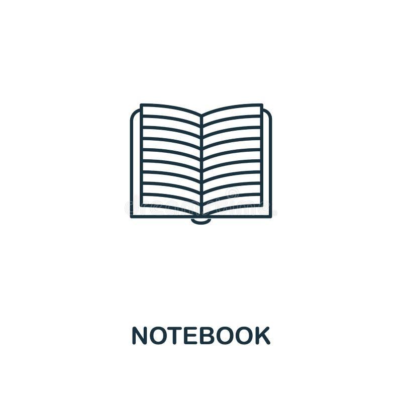notatnika konturu ikona Kreatywnie projekt od szkolnej ikony kolekcji Premia notatnika konturu ikona Dla sieć projekta, apps, opr ilustracji