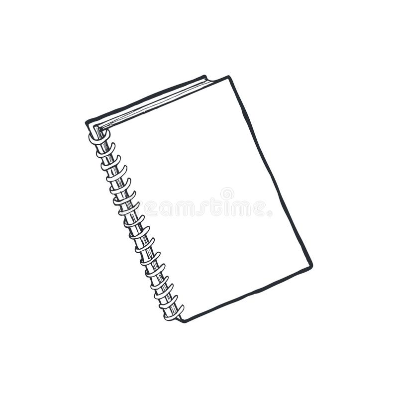 Notatnika nakreślenie odizolowywający ilustracja wektor