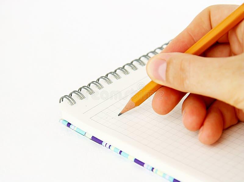 notatnika ołówek fotografia stock