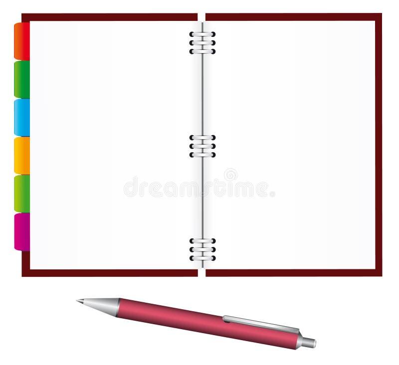 notatnika pióro ilustracja wektor