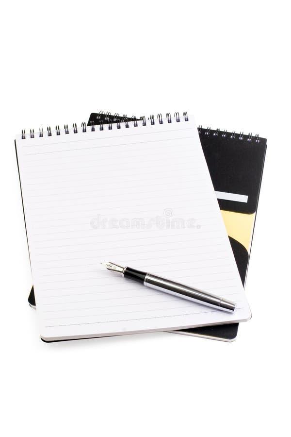 notatnika pióro zdjęcia stock