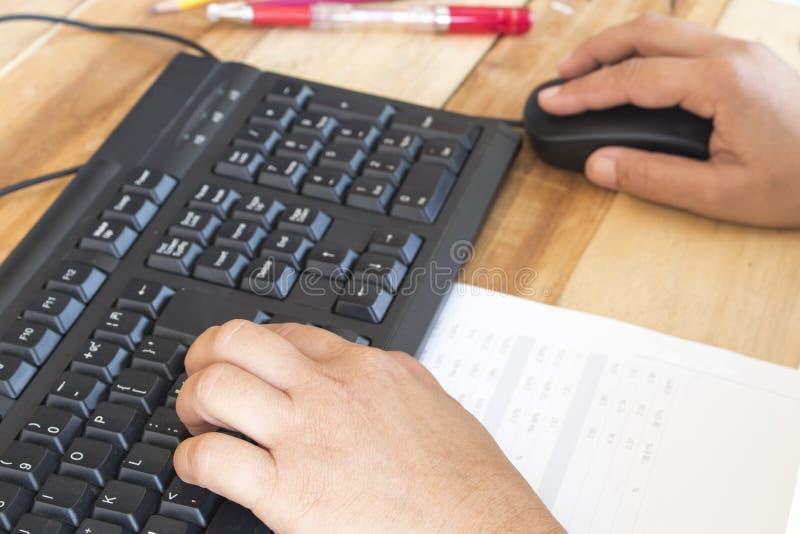 Notatnika planista, sprawozdanie finansowe dla biznesowej pracy obraz stock